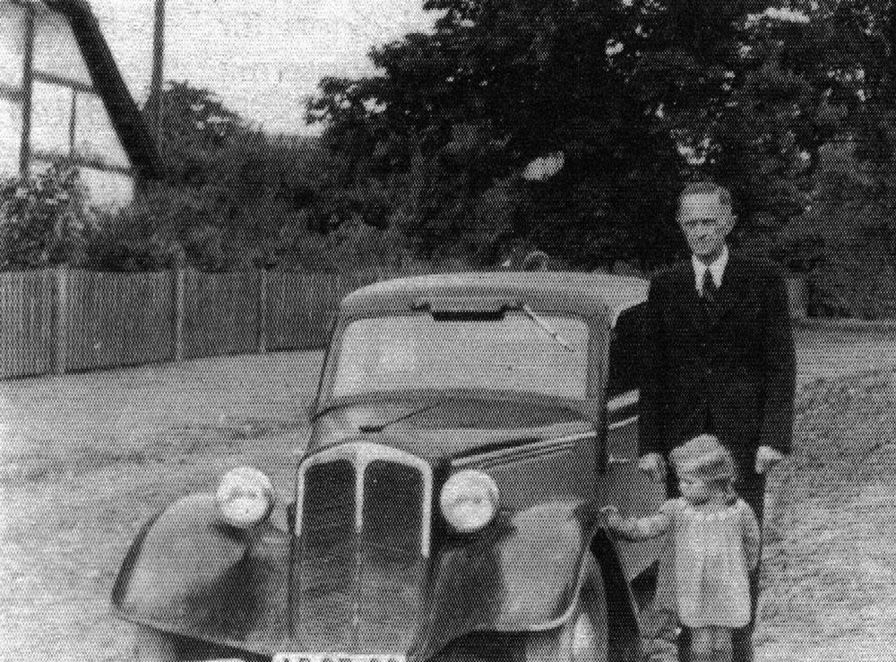 Gustav Schreiber mit Tochter Sibylle