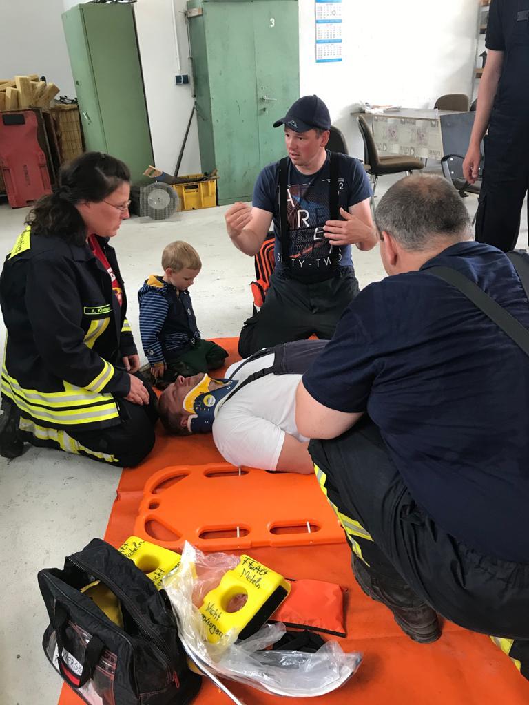 Erste Hilfe bei der Feuerwehr
